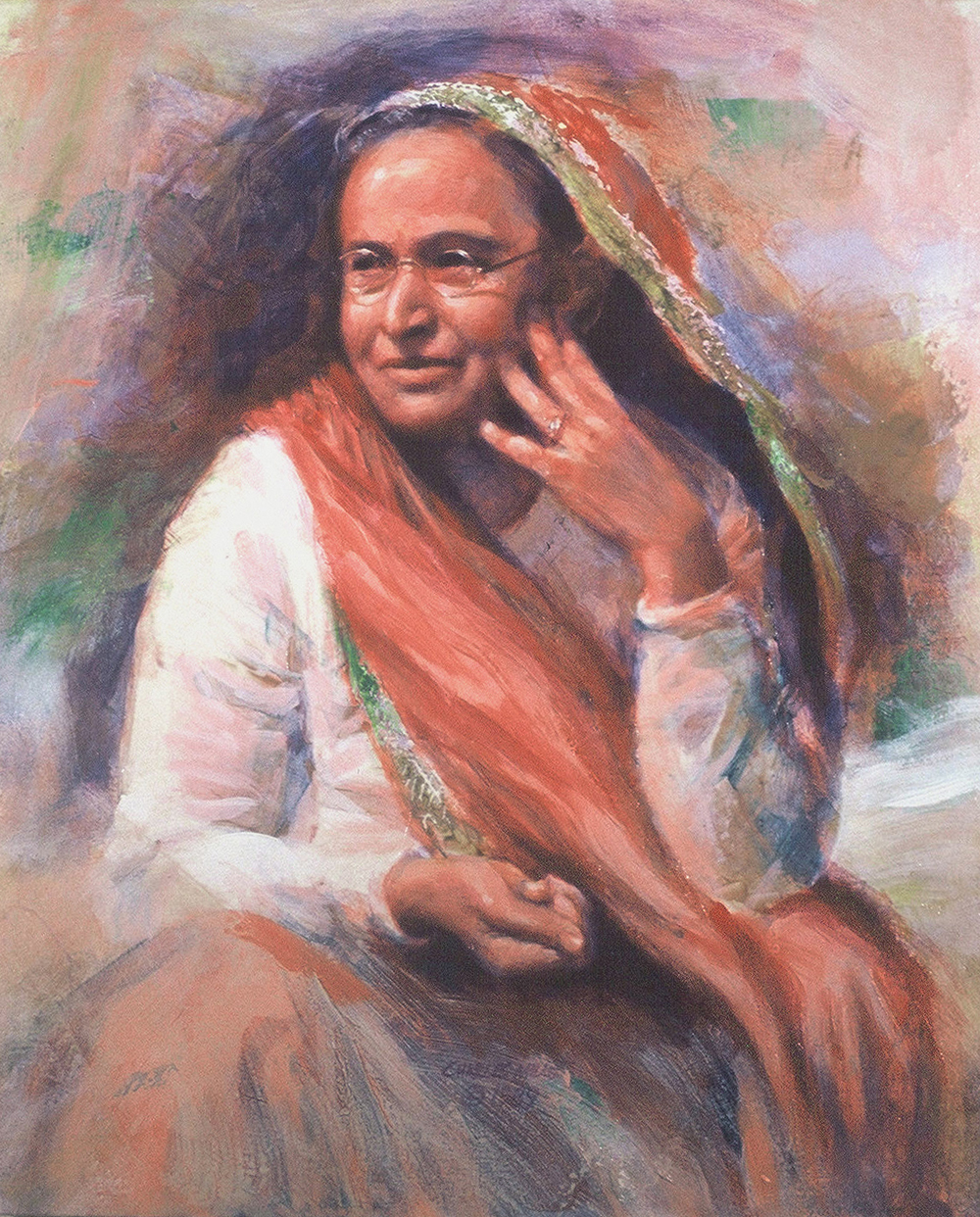 1989-3_Shireen-(89-3)-Oil-24x20-Baba's-Home-(Poona)