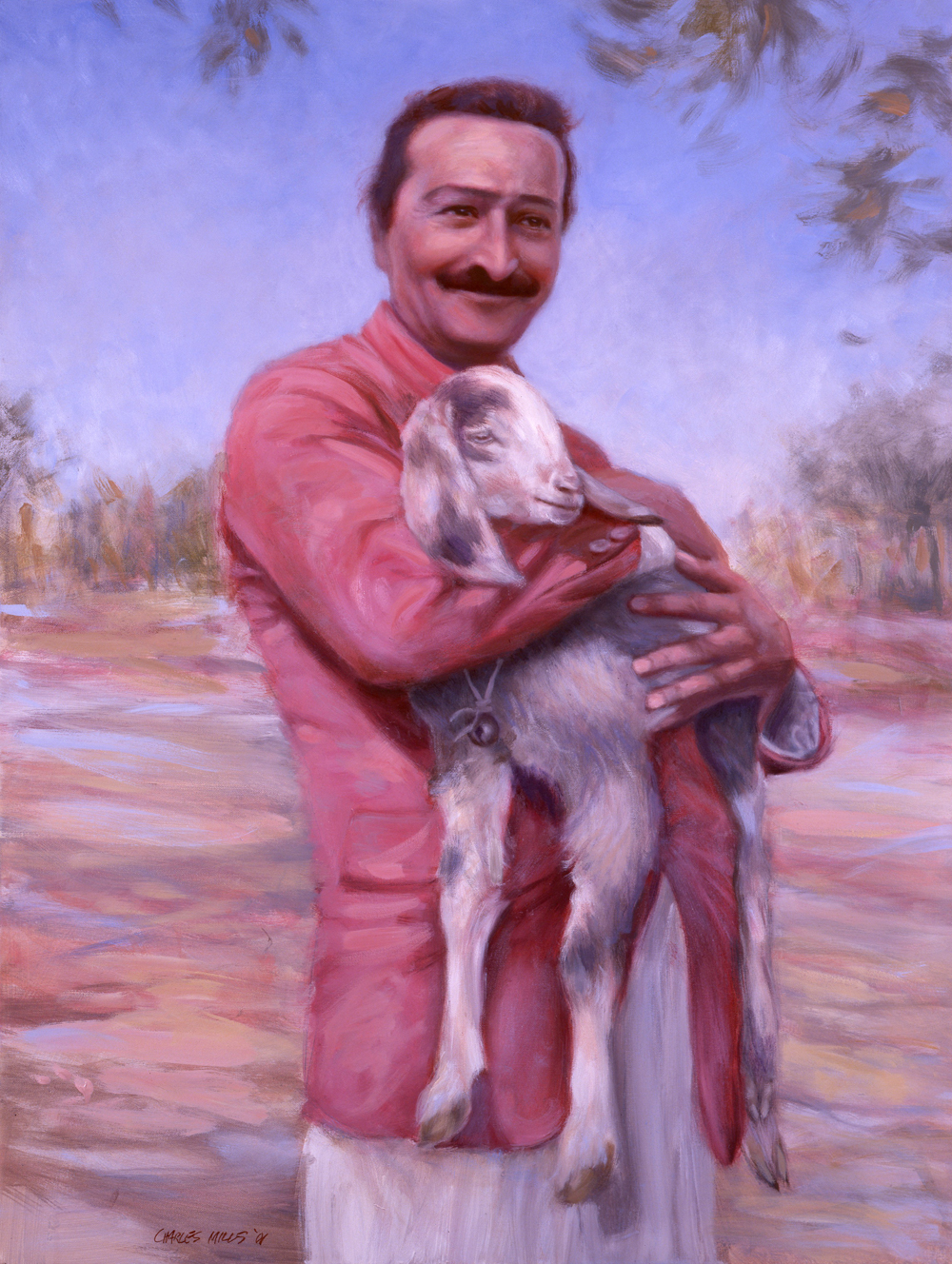 2001-1_Baba-Holding-Goat-(01-1)-Oil-40x30-Bobby-Currivan