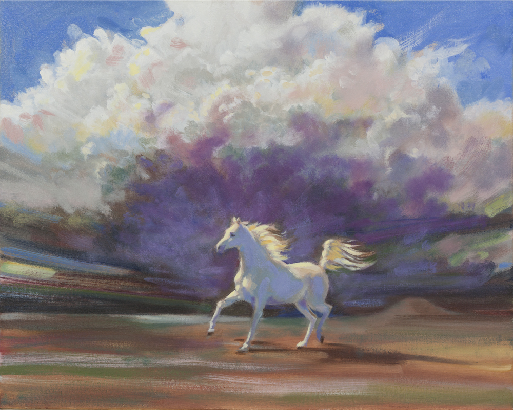 2013-3_White-Horse-#2-(13-3)-Oil-24x30-Michael-and-Linda-Goldman