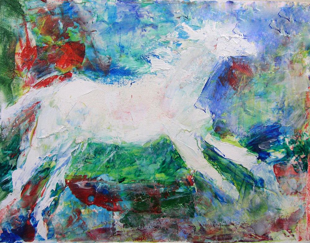 1990-28_White-Horse-(90-28)-14x18