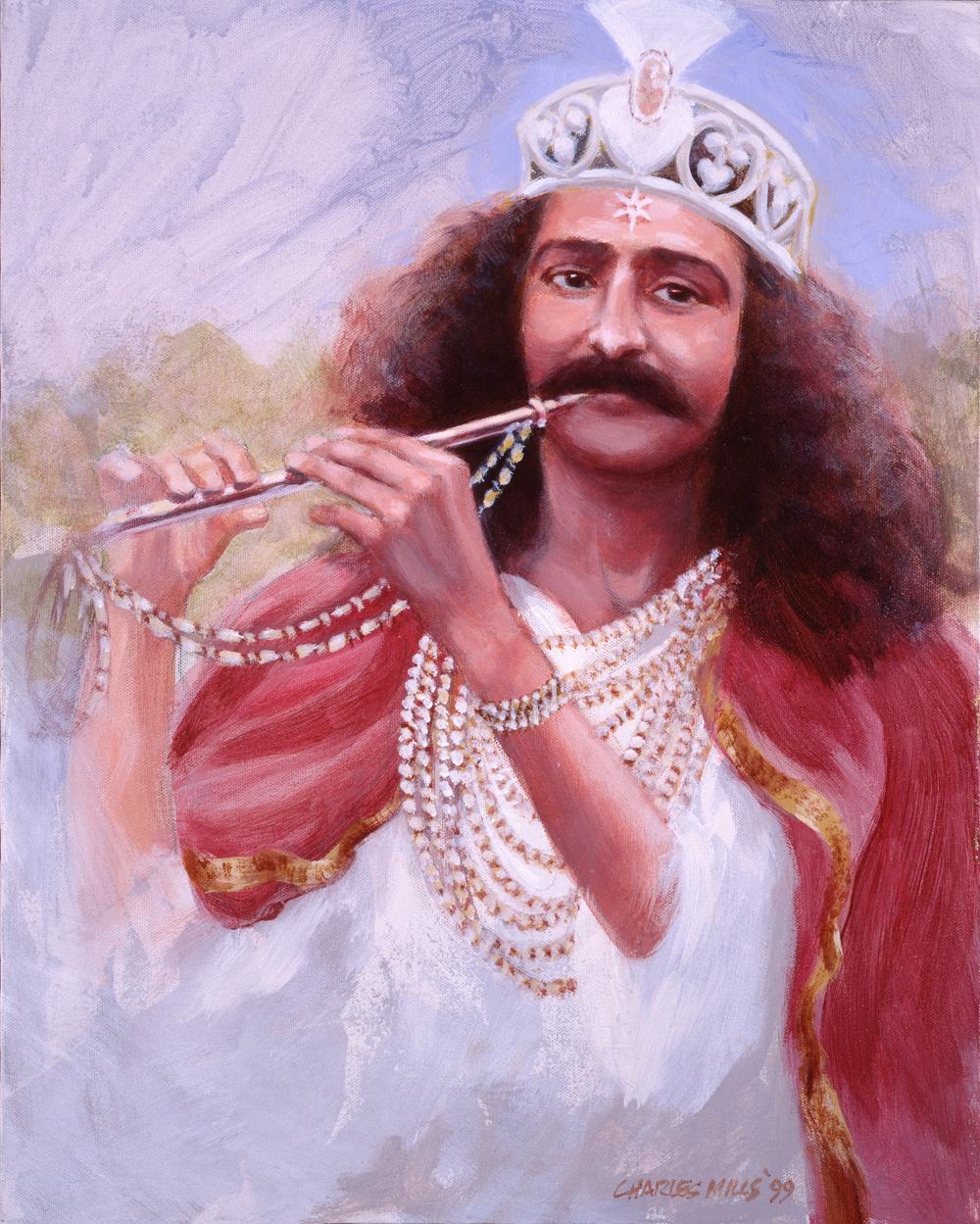 1999-9_Baba-as-Krishna-(99-9)-20x16-Elaine-Miller