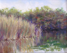 2003-4_Lake-Grass-(03-4L)-Oil-8x10-Dot-Lesnik